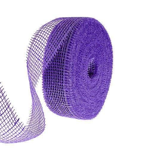 Ruban de jute violet 5cm 40m