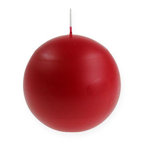 Bougies sphériques 100 mm rouges 6 p.