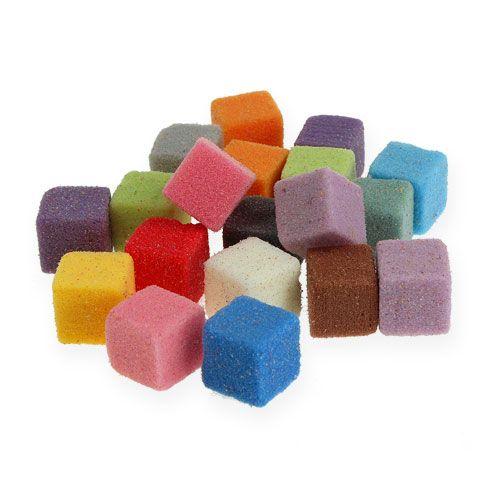 Mini-cube en mousse florale humide colorée 300pcs