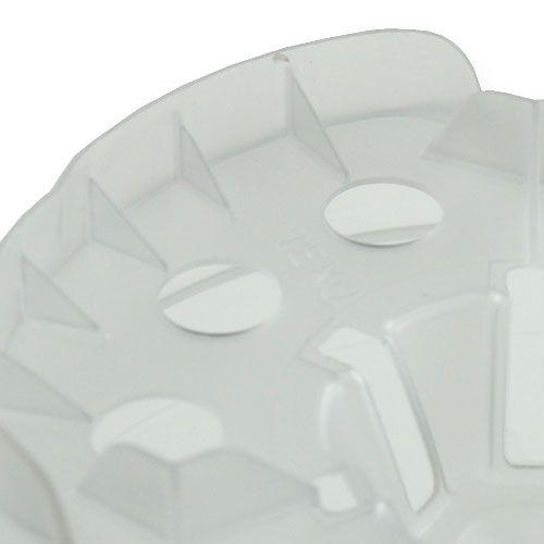 Cache-pot pour orchidées transparent Ø15cm 1p