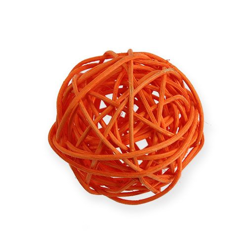 Balles en rotin dégradé de orange 30 p.