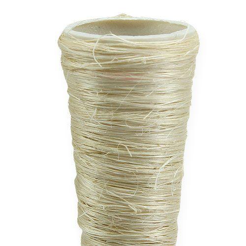 Vase en sisal blanchi Ø 3,5 cm L. 40 cm 5 p.