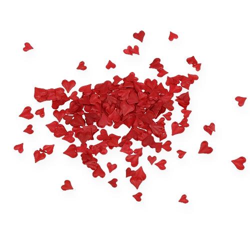 Saupoudrer de coeurs décoratifs rouges 5-8mm 1000p