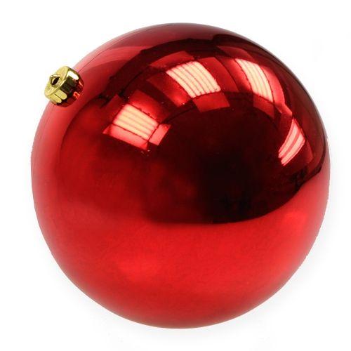 Boule de Noël en plastique grande taille rouge Ø 25 cm   articles