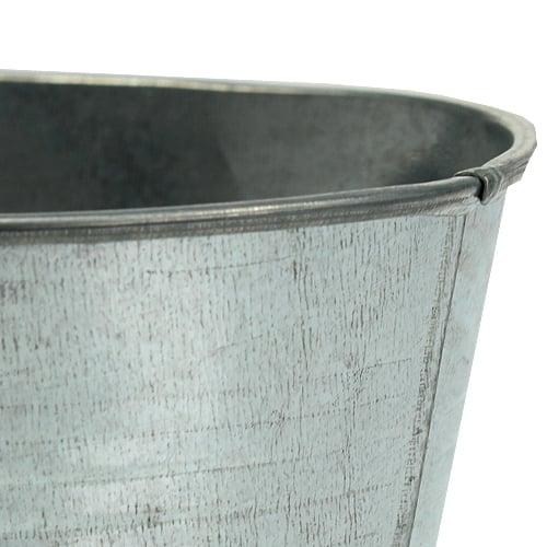 Bol en zinc ovale argent 21,5cm x 14cm x 10cm 6pcs