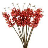 Branche de baies roses L. 28 cm 12 p.