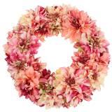 Couronne de fleur de Dahlia rose, Ø42cm crème