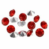 Diamants en acrylique 8 mm rouge 50 g