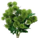 Fleur de soie de chardon vert 56cm 3pcs