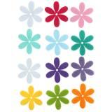 Fleur en feutre Couleurs au choix 4,5cm 54 pcs