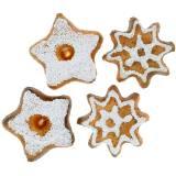 Décoration à contrôler biscuits star 24pcs