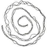 Décoration de sapin de Noël Guirlande de perles Gris 275cm