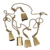 Set de sonnette à suspendre en métal laiton 8,2 / 9,5cm corde 240cm