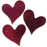 Décoration à contrôler coeur violet 3-5cm 48pcs