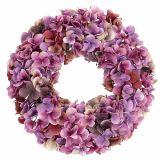 Chapelet d'hortensia Ø35cm Violet, mauve