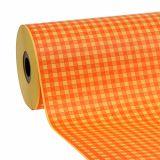 Papier de fleuriste orange clair à carreaux 37,5 cm 100 m