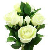 Bouquet de roses crème 48 cm