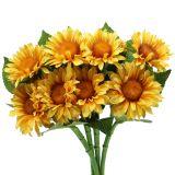 Fleur de tournesol floquée 26 cm 4 p.