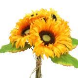 Bouquet décoratif tournesol bouquet jaune 30cm