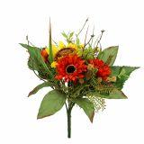 Bouquet de fleurs de tournesol jaune 24 cm