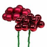Mini boules de Noël 20 mm rouge 140 p.