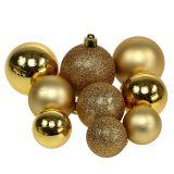 Boules de Noël dorées Ø 3,5 - 5,5 cm 30 p.