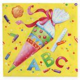 Serviettes en papier motif école 33 x 33 cm