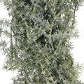 Couronne d'asperges décoratives asperges artificielles blanc, gris Ø32cm