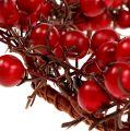 Couronne de baies Ø 15 cm rouge