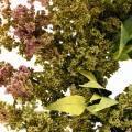 Couronne de bruyère artificielle verte, rose Ø72cm