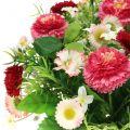 Couronne de fleurs avec pâquerettes Ø 28 cm abricot