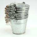 Seau Ø 12 cm H. 10 cm 8 p. zinc brillant
