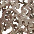 Décoration de jardin boule en métal rouille Ø 14 cm