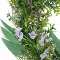 Couronne décorative eucalyptus, fougère, fleurs Couronne artificielle Guirlande de table