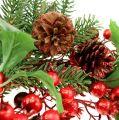 Couronne de Noël décorée Ø 60 cm
